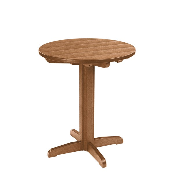 generations cedar 32 inch round pub height pedestal table free