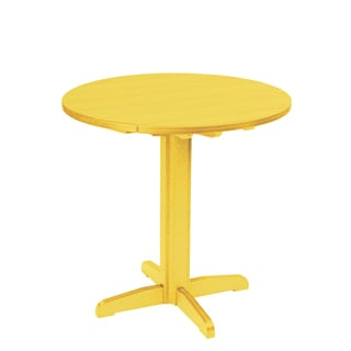 Generations Yellow 37-inch Round Pub Height Pedestal Table