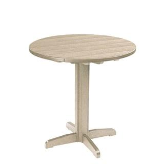Generations Beige 37-inch Round Pub Height Pedestal Table