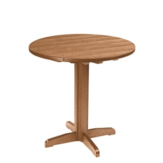 Generations Round Brown Pub Height Pedestal Table