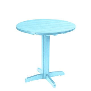 Generations Round Blue Pub Height Pedestal Table