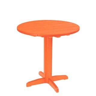 Generations Orange 37-inch Round Pub Height Pedestal Table