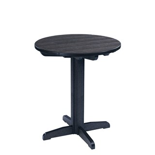 Generations Black 32-inch Round Pub Height Pedestal Table