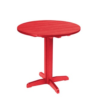 Generations Red 37-inch Round Pub Height Pedestal Table
