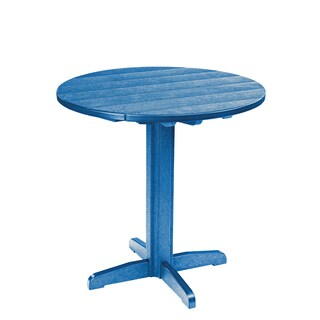 Generations Blue Round Pub Height Pedestal Table