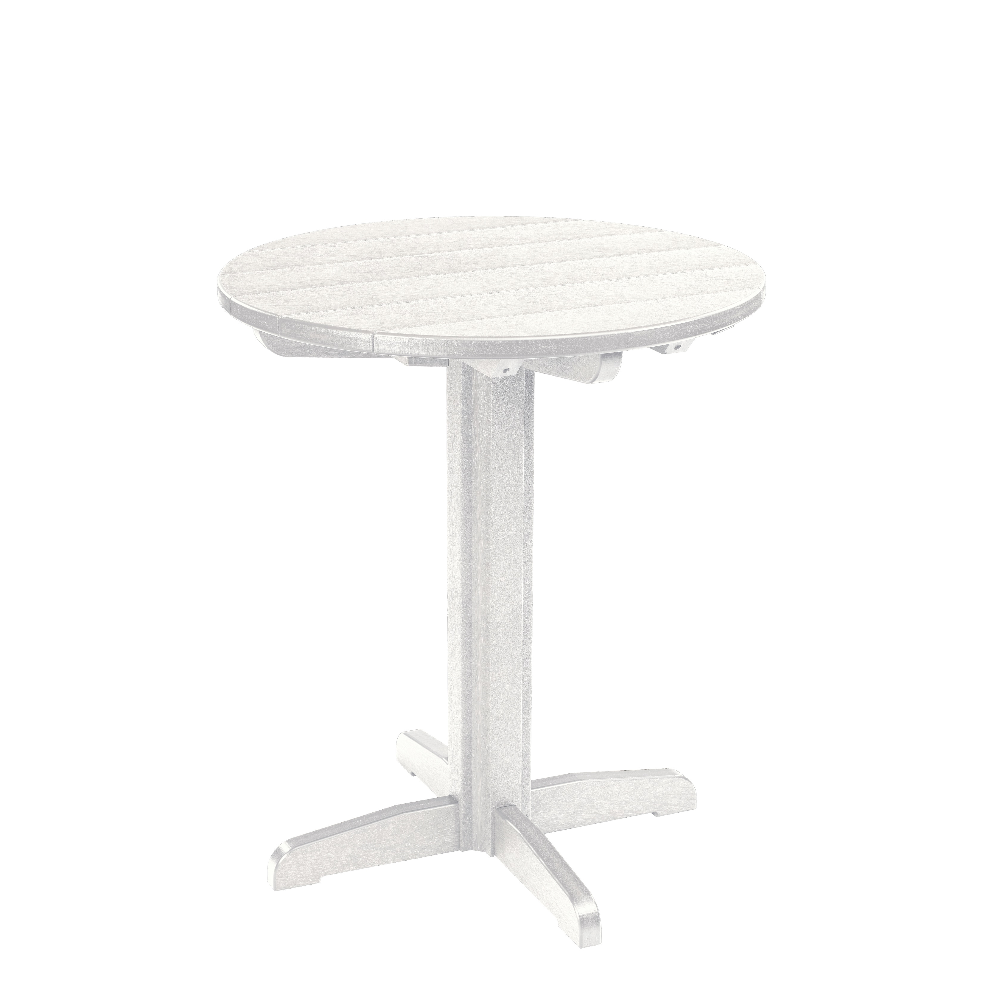 Generations White 32 Inch Round Pub Height Pedestal Table