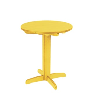 Generations Yellow 32-inch Round Pub Height Pedestal Table