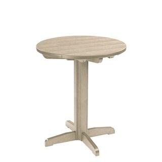 Generations Beige 32-inch Round Pub Height Pedestal Table
