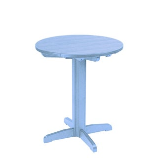 Generations Sky Blue 32-inch Round Pub Height Pedestal Table