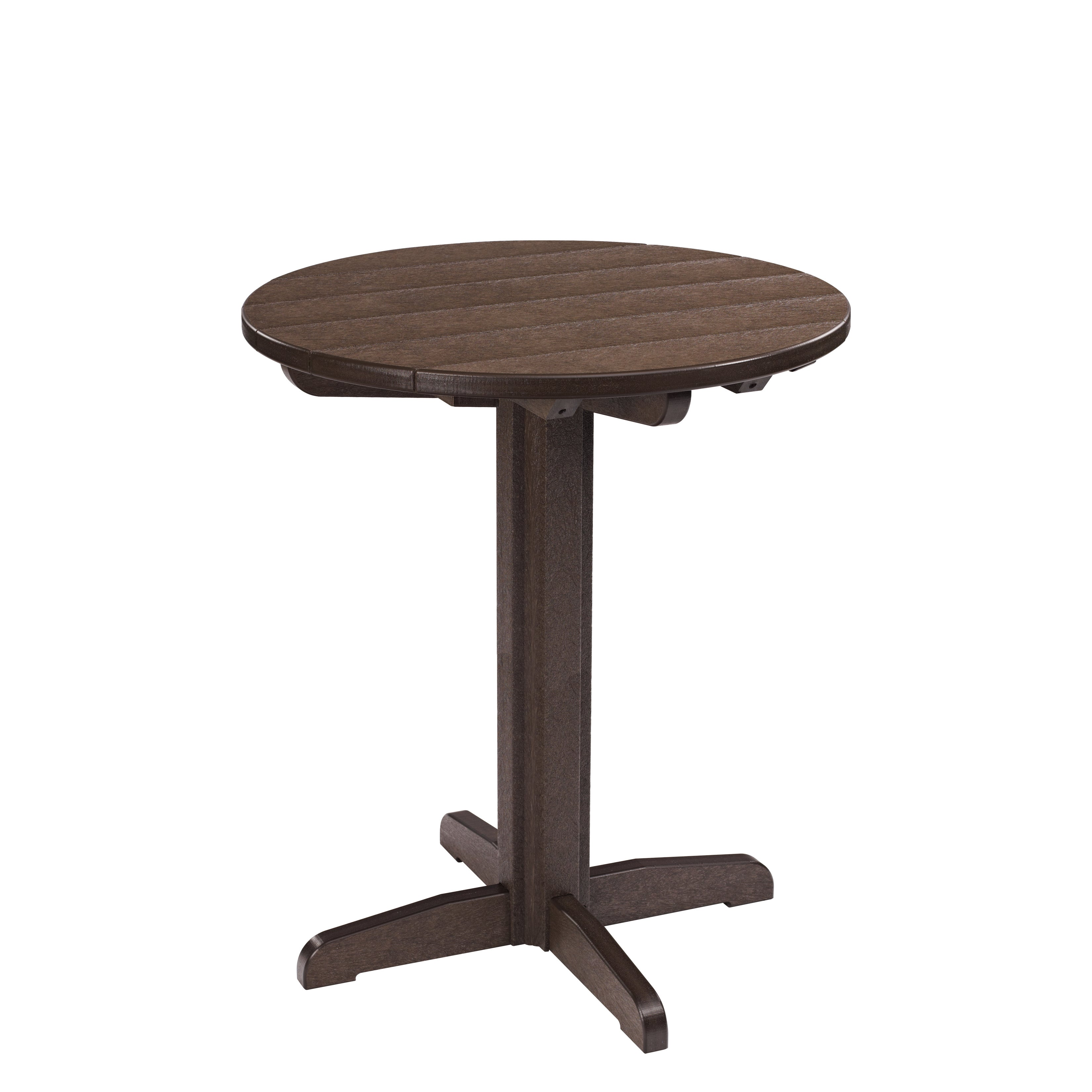 Generations Chocolate 32 Inch Round Pub Height Pedestal Table