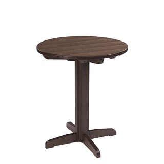 Generations Chocolate 32-inch Round Pub Height Pedestal Table