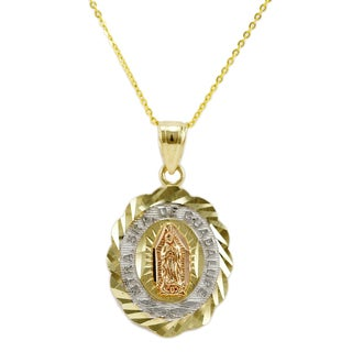 14k Tri-color Gold Guadalupe Pendant