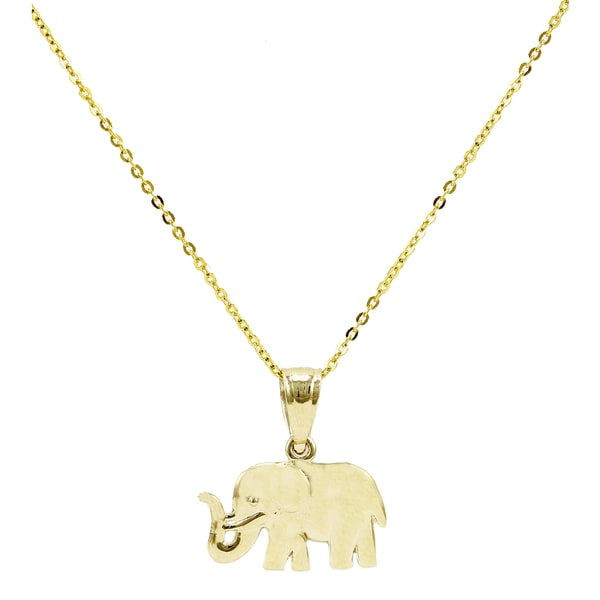 image family gold shop s pendant in rose elephant t main sterling fpx macy diamond necklace ct w product silver