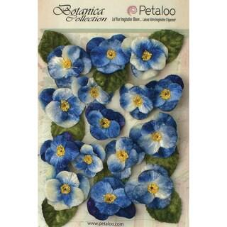 Botanica Vintage Velvet Pansies 1in To 1.5in 15/Pkg Royal Blue