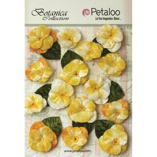 Botanica Vintage Velvet Pansies 1in To 1.5in 15/Pkg Amber