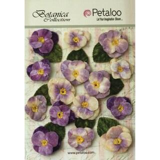 Botanica Vintage Velvet Pansies 1in To 1.5in 15/Pkg Lavender/Purple