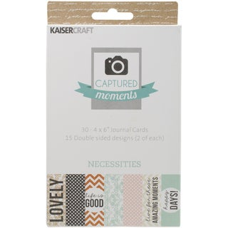 Captured Moments Double Sided Cards 6inX4in 30/Pkg Necessities