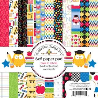 Doodlebug Paper Pad 6inX6in 24/Pkg School