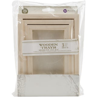 Relic & Artifacts Archival Case Wooden Trays 3/Pkg Set 2 Rectangle; 4inX6in, 5inX7in, 6inX8in