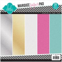 Heidi Swapp Glitter Paper Pad 8.5inX8.5in 20/Pkg Marquee Love, 4 Each Of 5 Colors