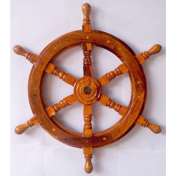 Decorative 19-inch Ship Wheel