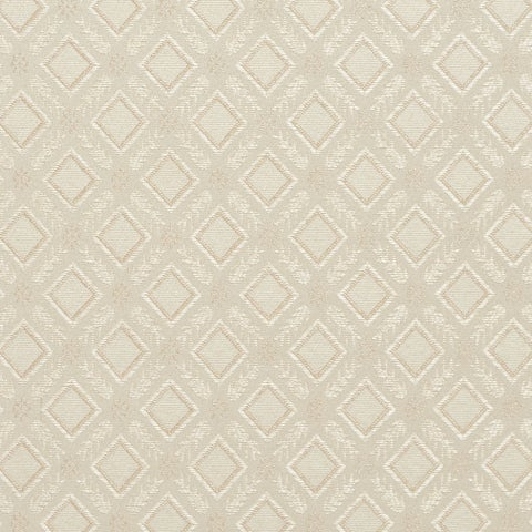 E634 Diamond Ivory Silver Damask Upholstery Window Treatment Fabric