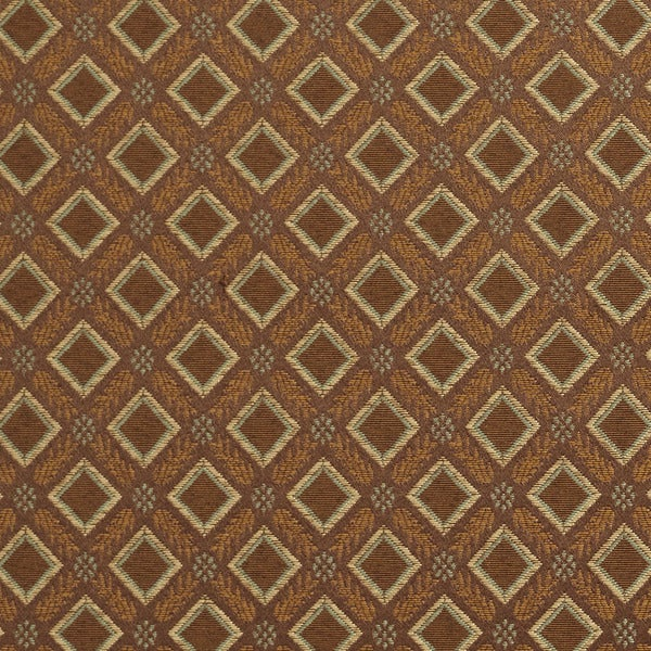 Shop E638 Diamond Brown Green Gold Damask Upholstery Drapery Fabric