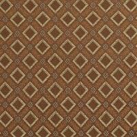 E638 Diamond Brown Green Gold Damask Upholstery Drapery Fabric