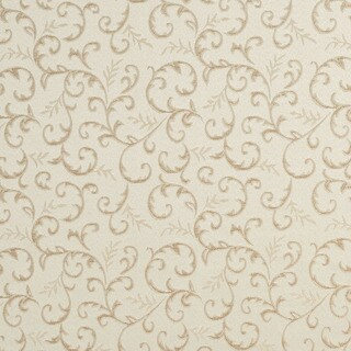 E642 Abstract Floral Ivory Silver Damask Upholstery Fabric