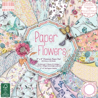 First Edition Premium Paper Pad 8inX8in 48/Pkg Paper Flowers