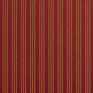 E651 Striped Red Gold Green Damask Upholstery Drapery Fabric