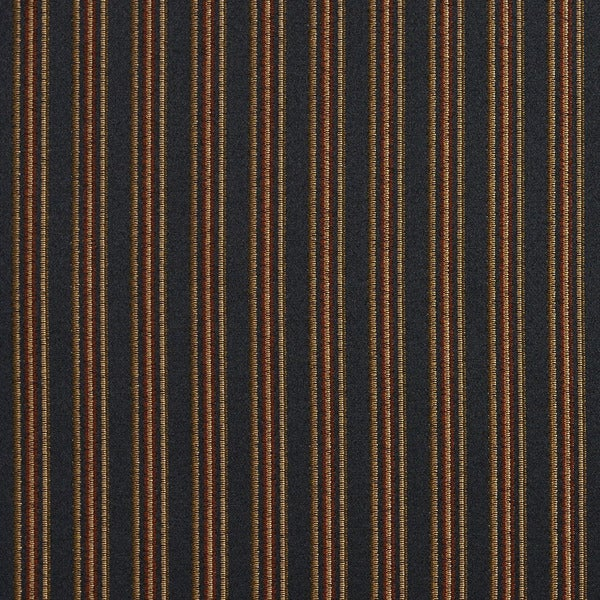 E Stripe Black Gold Green Orange Damask Upholstery Drapery - Black and gold stripe drapery fabric