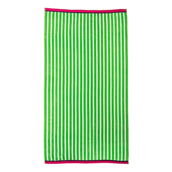 Jumbo Stripe Velour Beach Towel