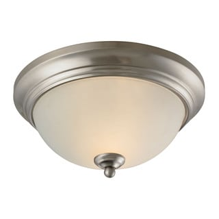 Cornerstone 11-inch Brushed Nickel Huntington 2-light Ceiling Lamp