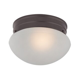 Cornerstone 7.5-inch Oil Rubbed Bronze 1-light Mushroom Flush mount