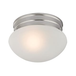 Cornerstone 7.5-inch Brushed Nickel 1-light Mushroom Flush mount