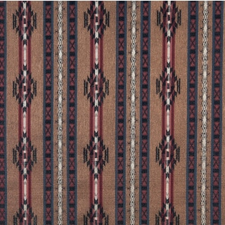 F381 Striped Southwestern Lodge Style Upholstery Grade Fabric