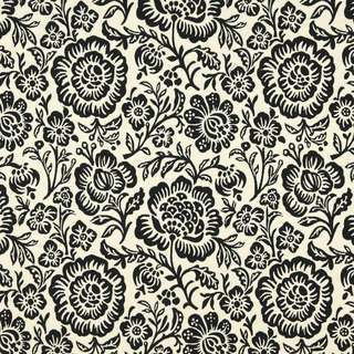 F400 Black And Beige Floral Matelasse Reversible Upholstery Fabric