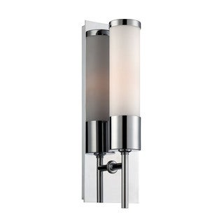 Cornerstone 5-inch Chrome And White Glass 1-light Sconce