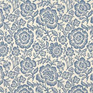 F404 Blue And Beige Floral Matelasse Reversible Upholstery Fabric