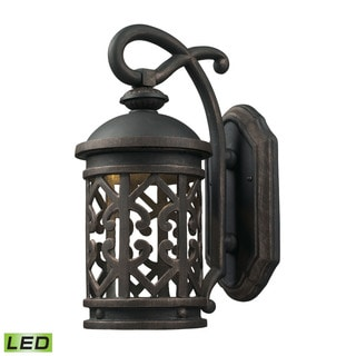 Cornerstone 7-inch Weathered Charcoal Tuscany Coast LED 1-light Exterior Wall Mount