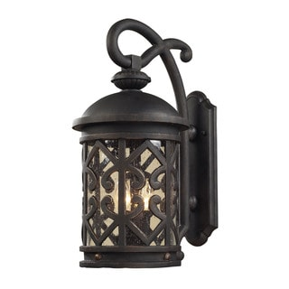 Cornerstone 9-inch Weathered Charcoal Tuscany Coast 2-light Exterior Wall Mount