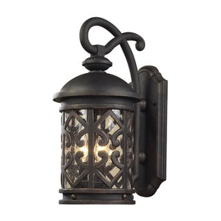 Cornerstone 10-inch Weathered Charcoal Tuscany Coast 3-light Exterior Wall Mount