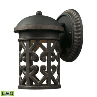 Cornerstone 6-inch Weathered Charcoal Tuscany Coast LED 1-light Exterior Wall Mount