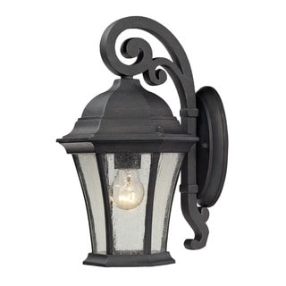 Cornerstone 8-inch Weathered Charcoal Wellington Park 1-light Exterior Wall Mount