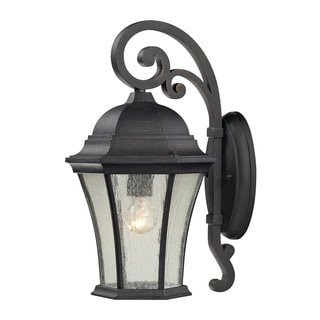 Cornerstone 9-inch Weathered Charcoal Wellington Park 1-light Exterior Wall Mount