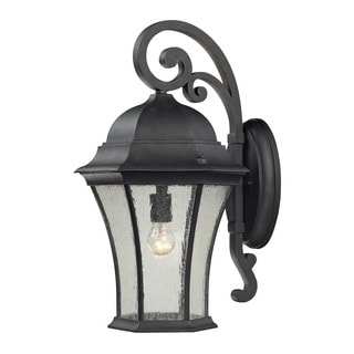 Cornerstone 13-inch Weathered Charcoal Wellington Park 1-light Exterior Wall Mount