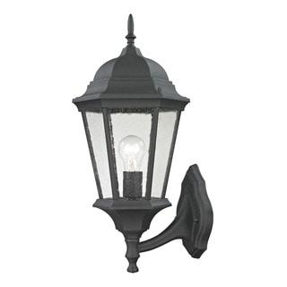 Cornerstone 9.5-inch Matte Textured Black Temple Hill Coach Lantern