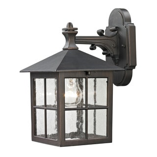 Cornerstone 7-inch Hazelnut Bronze Shaker Heights Coach Lantern