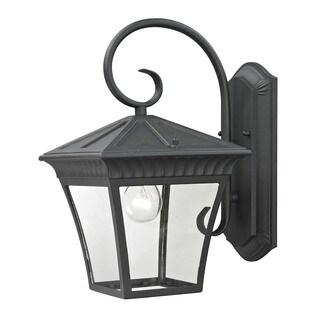 Cornerstone 9-inch Matte Textured Black Ridgewood 1-light Exterior Coach Lantern